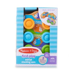 Tres Coches Apilables de Madera First Play Melissa & Doug