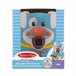 Encajable  de Madera Formas y Colores Perrito First Play Melissa & Doug