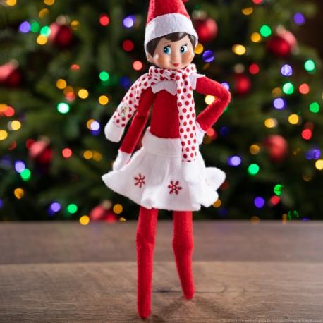 """The Elf On The Shelf: Vestuario """"Claus Couture"""" Falda y Bufanda"""
